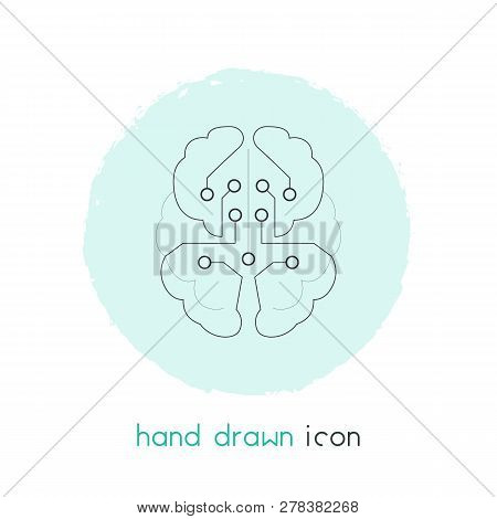 Artificial Intelligence Icon Line Element. Vector Illustration Of Artificial Intelligence Icon Line