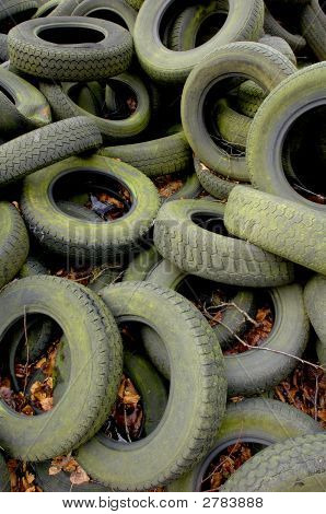 Discarded Car Tyres