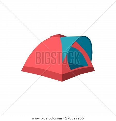 Set Of Tourist Tents. Collection Camping Tent Icons. Vector Illustration
