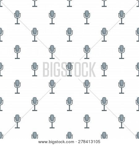 Studio Microphone Pattern Seamless Vector Repeat For Any Web Design