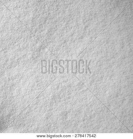 Snow Texture. Texture Of White Snow As A Background.