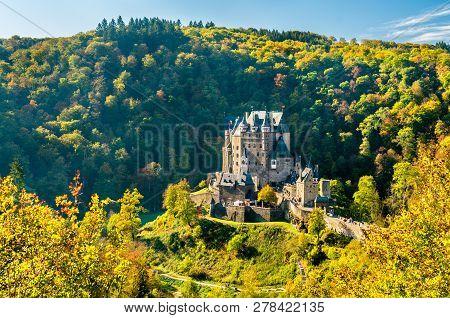 Eltz Castle In Autumn. Rhineland-palatinate, Western Germany
