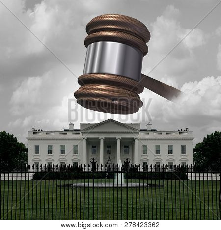 White House Legal Trouble And United States Law Crisis Representing Presidential Administration Cour