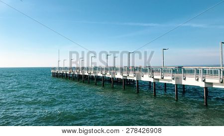 Beautiful Sea View From Pomorie, Bulgaria. Stock Photos.