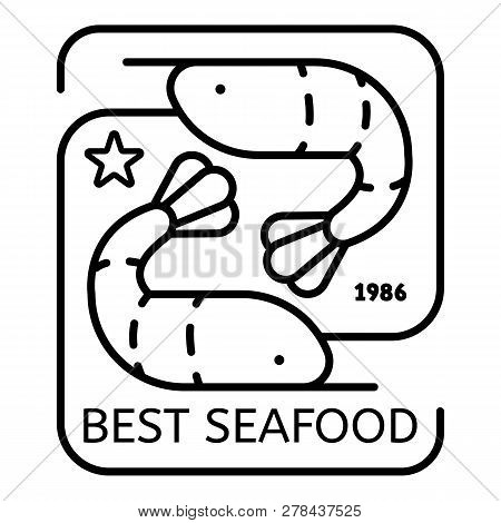 Best Sea Food Logo. Outline Best Sea Food Vector Logo For Web Design Isolated On White Background