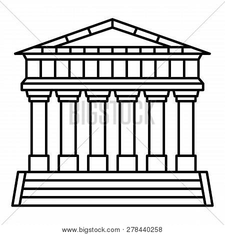 Italian Temple Icon. Outline Italian Temple Vector Icon For Web Design Isolated On White Background