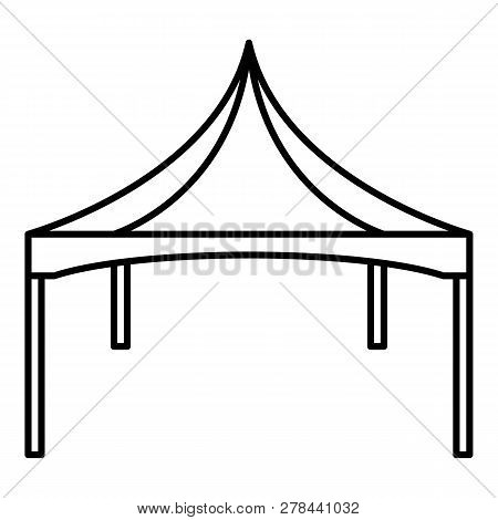 Commercial Tent Icon. Outline Commercial Tent Vector Icon For Web Design Isolated On White Backgroun