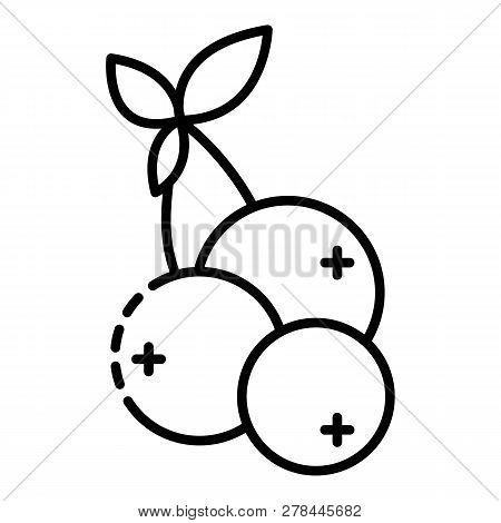Blueberry Icon. Outline Blueberry Vector Icon For Web Design Isolated On White Background