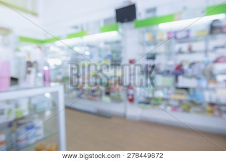 Blurred Pharmacy Drugstore