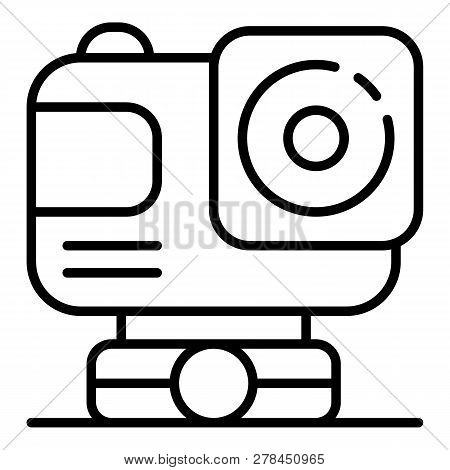 Action Sport Camera Icon. Outline Action Sport Camera Vector Icon For Web Design Isolated On White B
