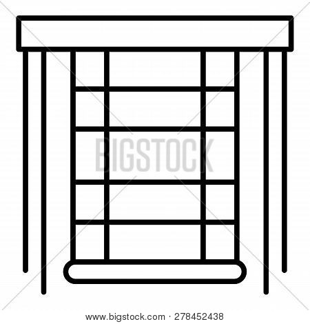 Blind Window Icon. Outline Blind Window Vector Icon For Web Design Isolated On White Background