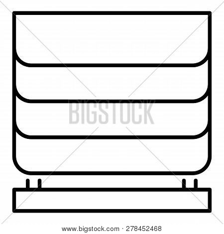 Home Blind Window Icon. Outline Home Blind Window Vector Icon For Web Design Isolated On White Backg