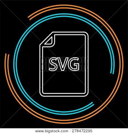 Download Svg Document Icon - Vector File Format Symbol. Thin Line Pictogram - Outline Stroke