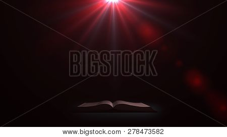 A Mysterious Book. The Book In A Mysterious Light