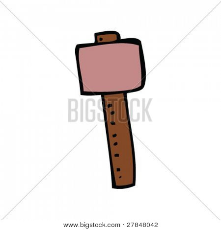 drawing of a mallet