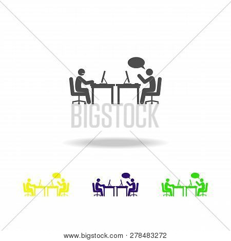 Unpleasant Conversation Icon. Element Of Colleagues Icon For Mobile Concept. Detailed Unpleasant Con