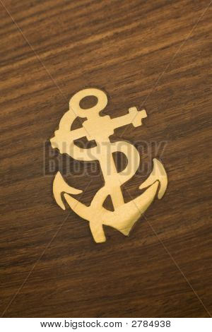 Brass Anchor Inlay