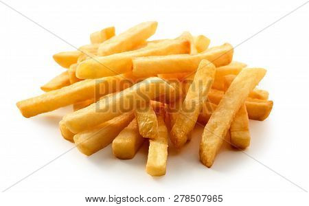 Close Up On Fresh French Fries Or Pommes Frites