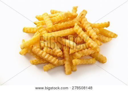 Delicious Golden Crispy Crinkly Potato Chips