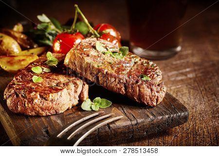 Tender Gourmet Medallions Of Roasted Beef Fillet