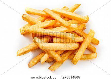 Heap Of Golden Oven Baked Potato Chips
