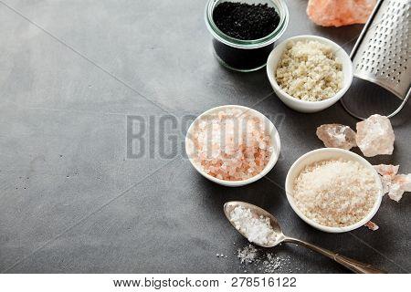 Bowls Of Coarse Natural Sea And Rock Salt