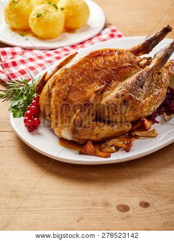 Grilled Crispy Pheasant With Red Currants