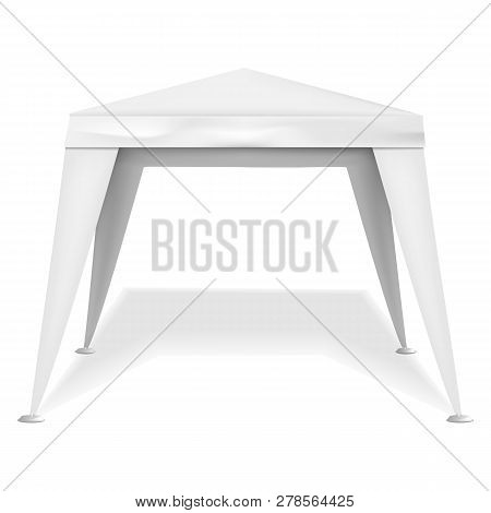Commercial Tent Icon. Realistic Illustration Of Commercial Tent Icon For Web Design Isolated On Whit