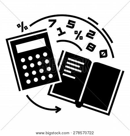 Accounting Icon. Simple Illustration Of Accounting Icon For Web Design Isolated On White Background