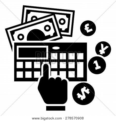 Accounting Calculator Icon. Simple Illustration Of Accounting Calculator Icon For Web Design Isolate