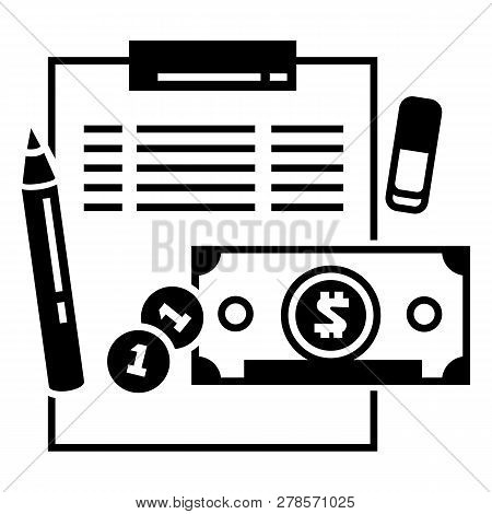 Finance Accounting Icon. Simple Illustration Of Finance Accounting Icon For Web Design Isolated On W