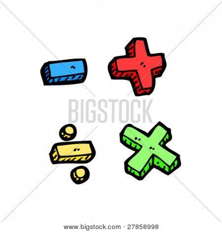 maths symbols cartoon