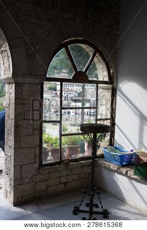 Old Town Berati, Windows In Berat - Also Called City Of A Thousand Windows. Albania, World Heritage