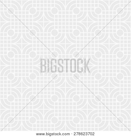 Abstract Seamless Pattern. Modern Stylish Texture. Regularly Repeating Geometric Ornament Of Squares