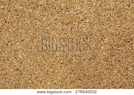 Exposed aggregate finish. Washed sand. Texture and background. poster