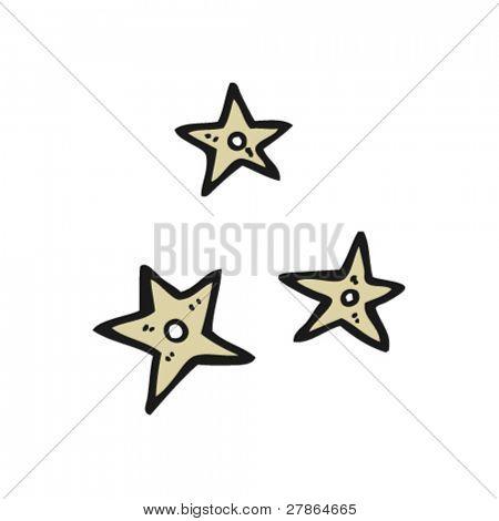 ninja throwing stars cartoon