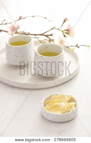 Dried And Sweetened Ginger, Vietnamese Traditional Snack During Tet