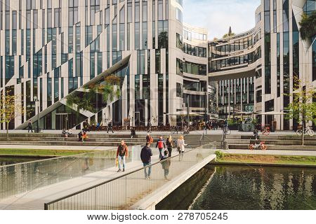 October 27, 2018. Germany, D Sseldorf. North Rhine. Building Complex, Known As K -bogen City Center,