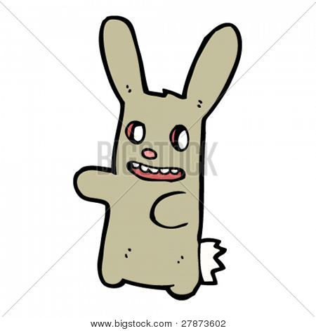 happy zombie bunny cartoon