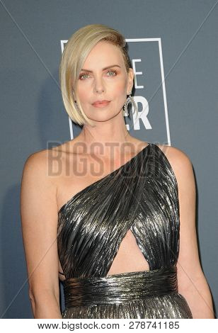 Charlize Theron at the 24th Annual Critics' Choice Awards held at the Barker Hangar in Santa Monica, USA on January 13, 2019.