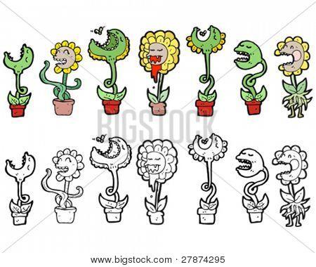 carnivorous plants cartoon