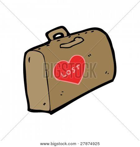 lost heart luggage cartoon