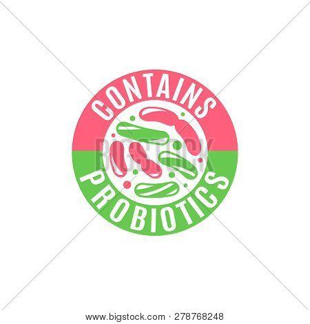 Probiotic Icon, Vector Design. Lactobacillus Acidophilus. Bacteria Symbol. Food Concept. Healthy Nut