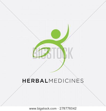 Medical Cross And Herbal Leaf. Medicine Pharmacy Logo. Medical Health Symbol. Herbal Health Care Log