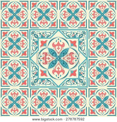 Arabic Ornament, Ceramic Tile Border, Frame Design