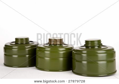 Three Absorbers For Gas Mask