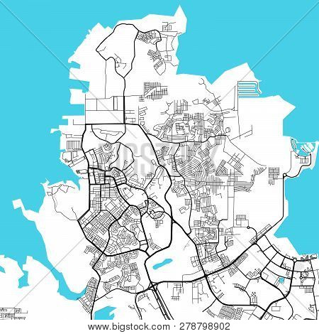 Batam Indonesia Light Map. Vector Map For Infographic And Marketing Print Projects