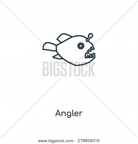 Angler Icon In Trendy Design Style. Angler Icon Isolated On White Background. Angler Vector Icon Sim