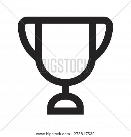 Trophy Vector Icon On White Background. Trophy Icon In Modern Design Style. Trophy Vector Icon Popul