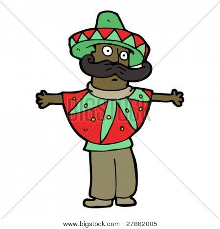 mexican stereotype cartoon man